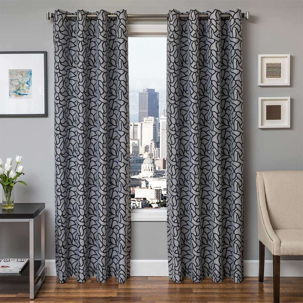 Grey Grommet Curtains At Linen Chest