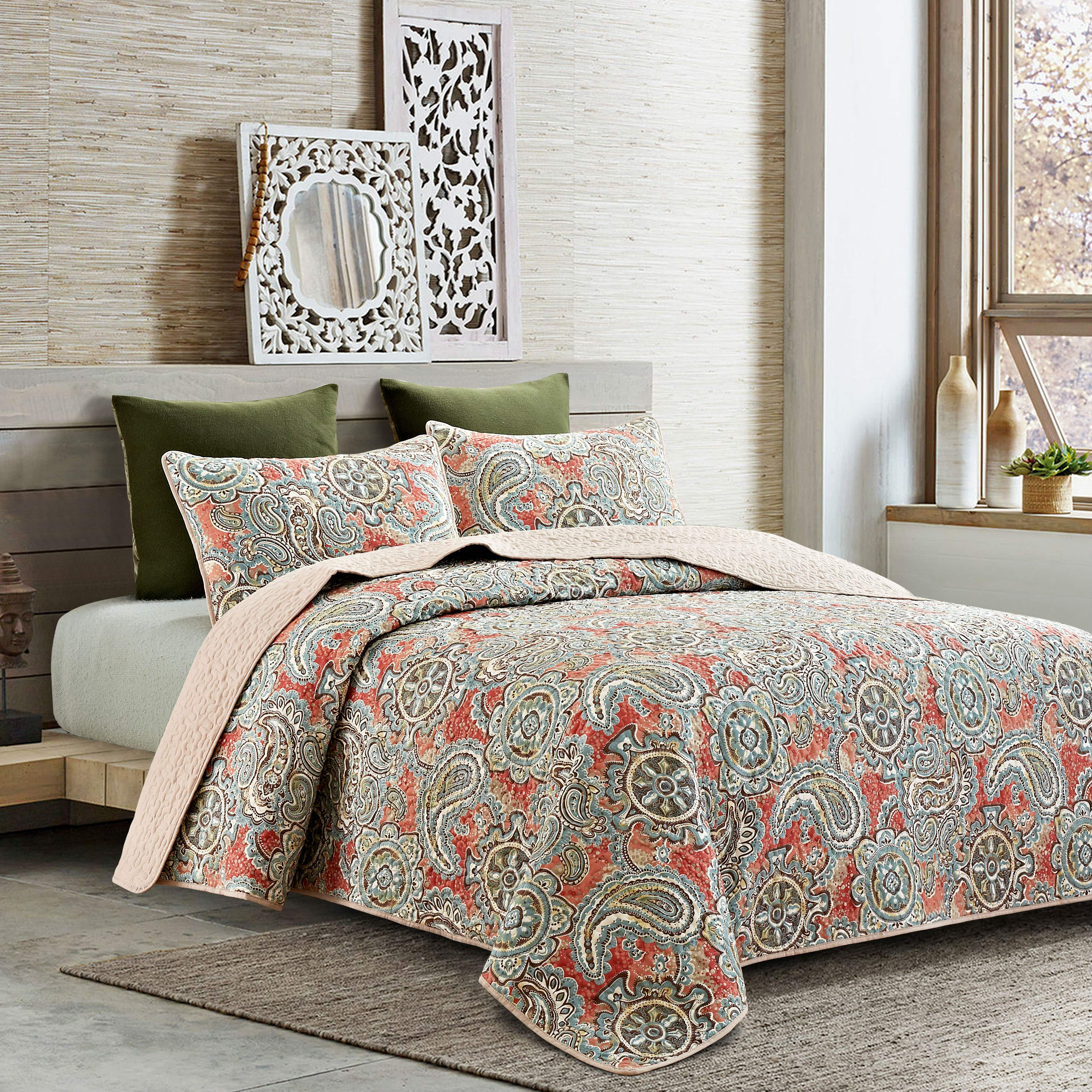 quilts quilt paisley sham p kasbah quilted standard camel bedding