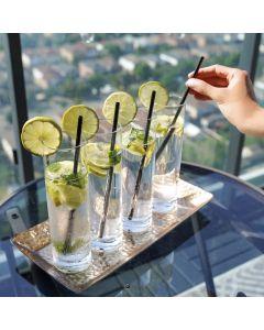 Ensemble de 4 verres hauts avec pailles