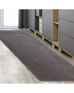 Tapis de couloir gris en fausse fourrure - 24 po x 72 po