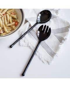 2-Piece Black Salad Servers