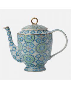 Théière bleue «Bukhara» par Maxwell & Williams