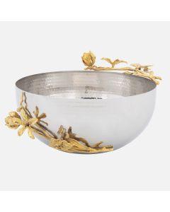 """Elegance Gold Butterflies Bowl (11"""")"""