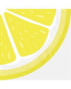 Lemon Round Table Napkins