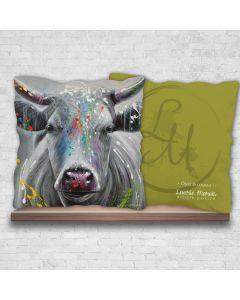 ''Osez la couleur!'' Decorative Cushion by Laurie Marois