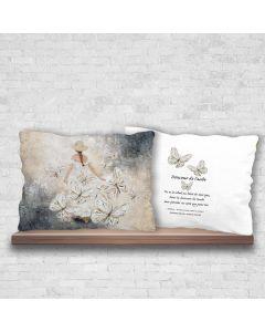 Coussin décoratif«Douceur de l'aube»par Suzanne Béland