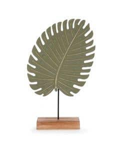 """Green Leaf Decor on Natural Base 15"""""""