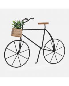 Vélo en métal avec plante décorative