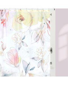 Rideau de douche «Blush & Blooming»
