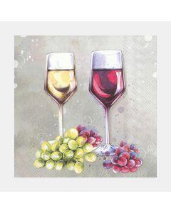 Serviettes de table«Red & White Wine»
