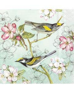 Paquet de 20 serviettes de table « Birds Symphony »