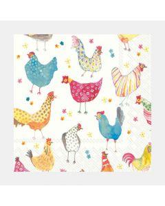 Serviettes de table«Jolly Hens»