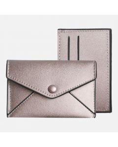 Pink Gold Envelope Wallet