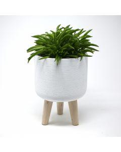 Petit cache-pot - 19 cm (H) x 14,5 cm (D)