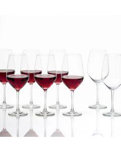 Ensemble de 6 + 2 verres à vin rouge