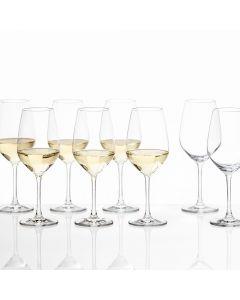 Ensemble de 6 + 2 verres à vin blanc