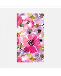 Paquet de 16 serviettes d'invité « Pink Daisy »