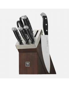 Statement 7-Piece Knife Set with Self-Sharpening Block