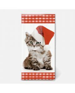 Mouchoirs festifs chaton