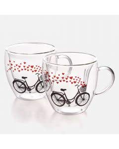 Set of 2 Sweetheart Coffee Cups