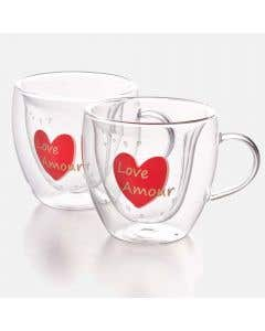Set of 2 Love Amour Coffee Cups