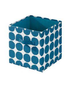 Square Blue Dot Storage Bin