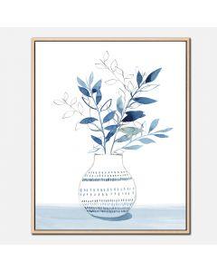 Cadre et illustration «Indigo Bouquet I »