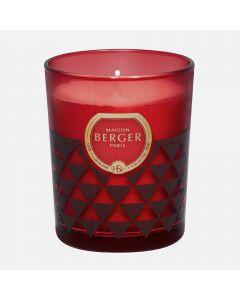 Amber Powder Candle - Burgundy (180g)