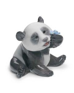 "A Happy Panda 3-1/4"" x 3-1/2"""