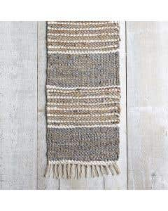 Mesa Leather and Jute Table Runner