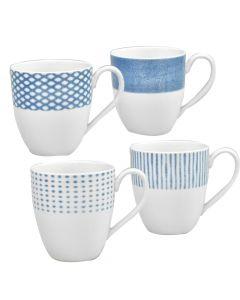 Set of 4 Blue Mugs