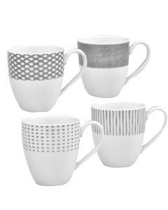 Set of 4 Grey Mugs