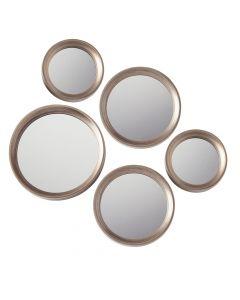 Ensemble de miroirs 5 pièces«Penny»- or