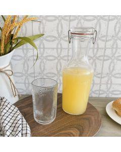 Lock & Eat Juice Jar with Lid 34 oz by Luigi Bormioli