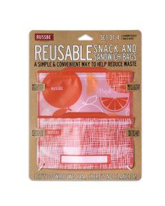 Ensemble sacs réutilisables - orange