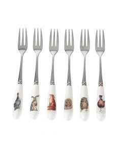 Ensemble de 6 fourchettes à dessert«Wrendale» par Royal Worcester