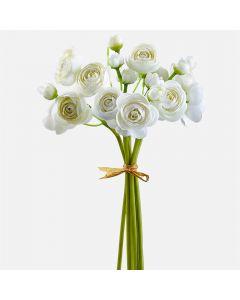 """Mini Ranunculus Bouquet - White (10"""")"""