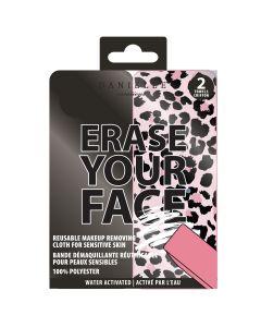 Ensemble de 2 lingettes démaquillantes pour le visage «Erase Your Face»