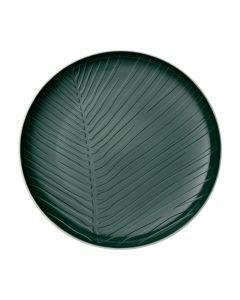 Round Plate Leaf Green (24cm x 3cm)