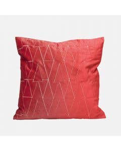 Coussin rouge 18 po