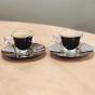 Tasse à espresso Bormioli Luigi et soucoupe par Trudeau