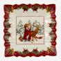 "Toy's Fantasy Square Bowl - Santa and Animals (9"")"
