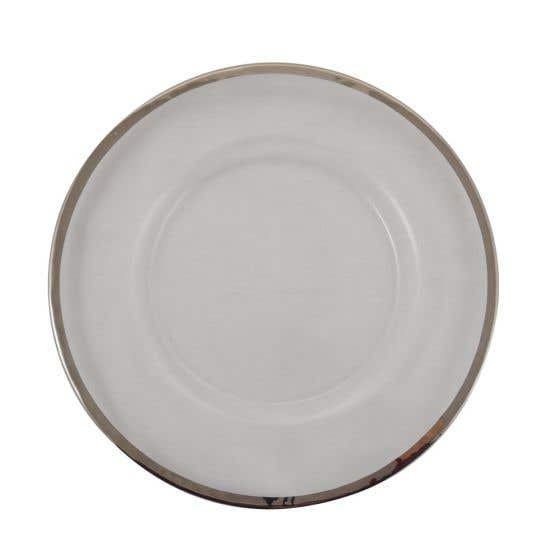 Charger Plate with Silver Rim