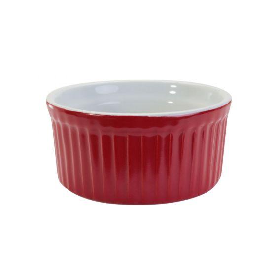Red Fluted Ramekin
