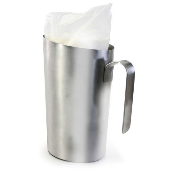 Pichet pour sac de lait en acier inoxydable