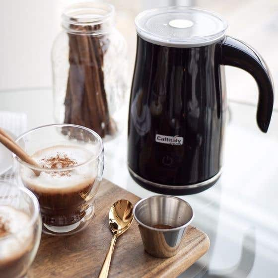 Caffitaly Latte+ Black Electric Milk Frother