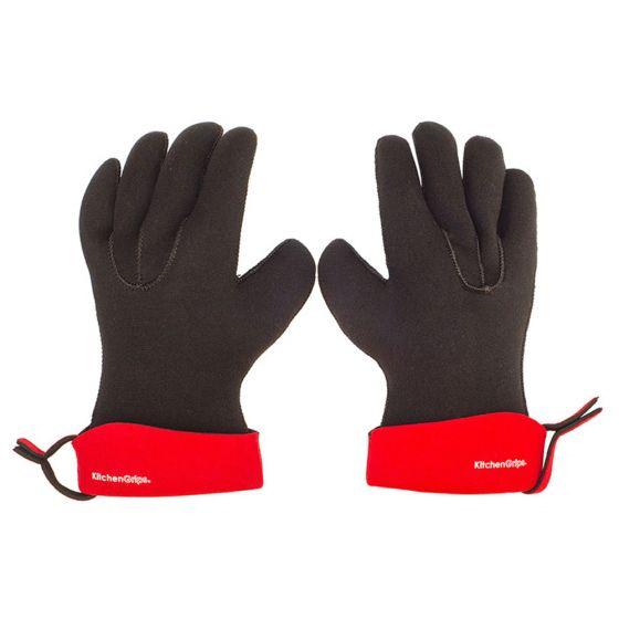 Kitchen Grips Chef's Gloves - Cherry/Black