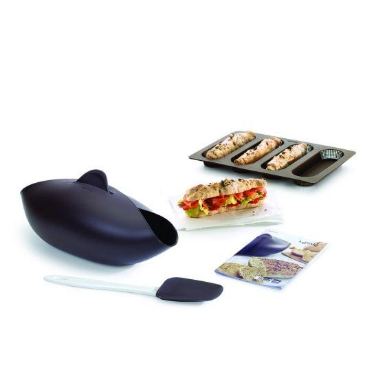 Lékué Bread Starter Kit, Mini Baguette & Recipe