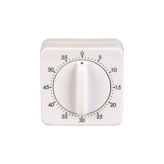White Mechanical Timer by Bios