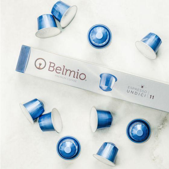 Capsules Belmio « Undici » de première qualité compatibles avec Nespresso
